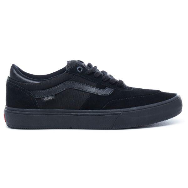 VANS Gilbert Crockett Pro 2 Suede fekete hasított bőr gördeszkás cipő fekete gumitalppal
