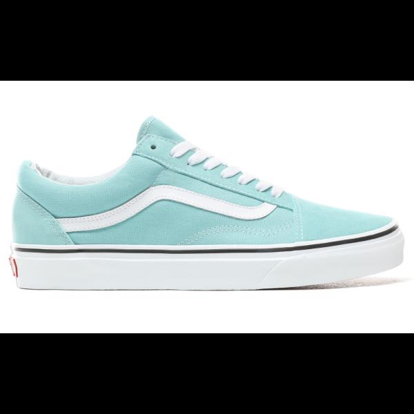 VANS Old Skool  #  Aqua haze  / True white, világoskék vans cipő fehér vans csíkkal az oldalán