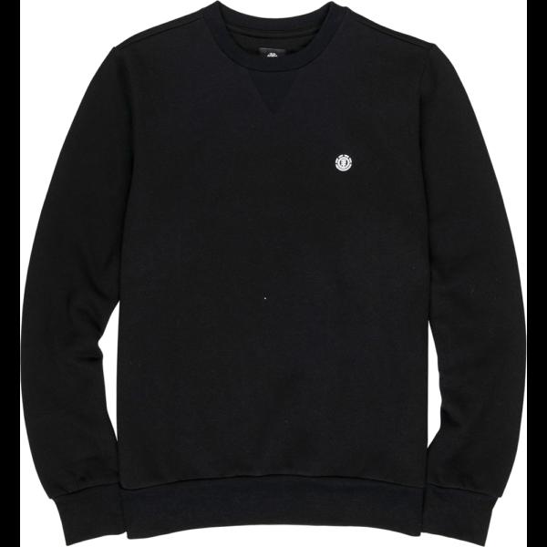 fekete Element környakas pulóver, kis element logóval