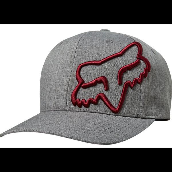 FOX Clouded Flexfit Grey / Red baseball sapka
