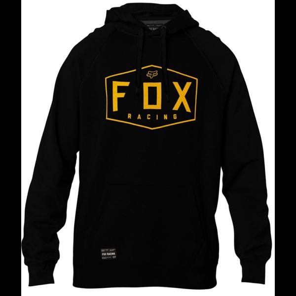 FOX Crest PO - Black kapucnis pulóver