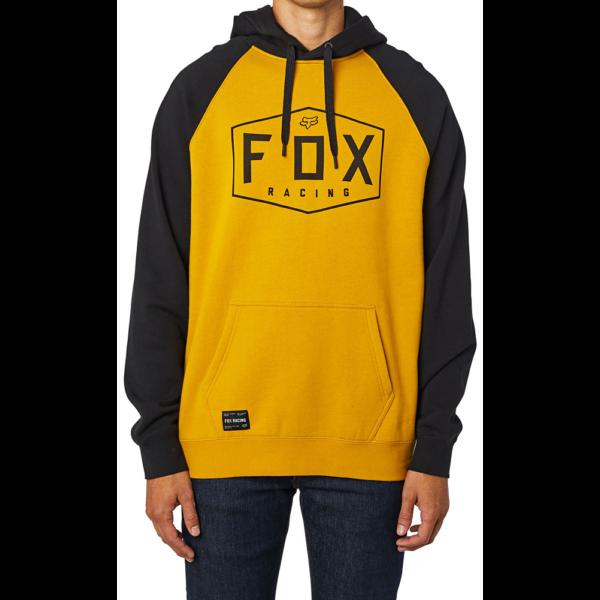 FOX Crest PO - Mustard kapucnis pulóver.