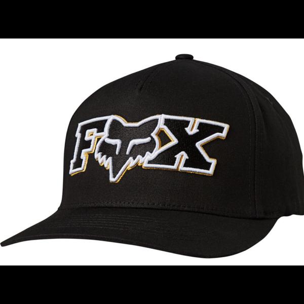 FOX Ellipsoid Flexfit Black / Yellow baseballsapka