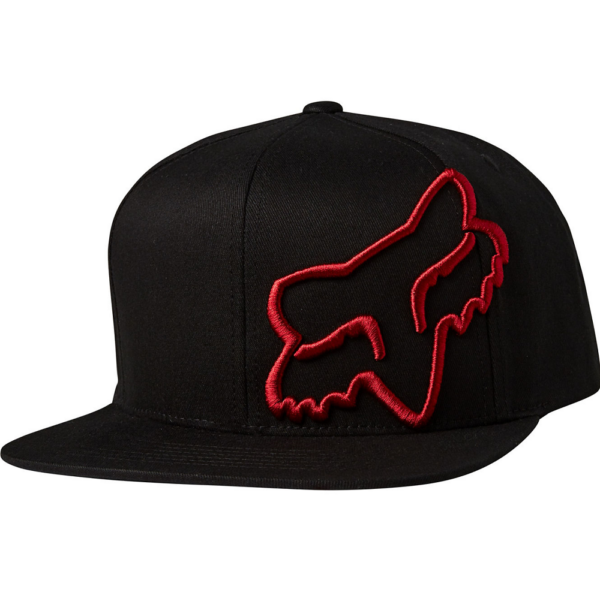 FOX Headers Snapback - Black / Red baseball sapka