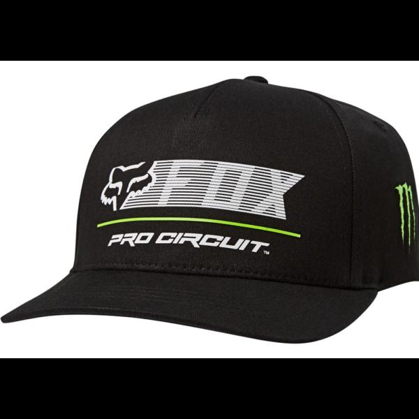 FOX Pro Circuit Flexfit - Black baseball sapka