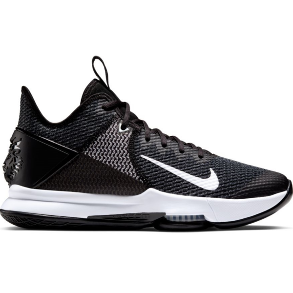 NIKE Lebron Witness IV - Black / White / Iron grey cipő