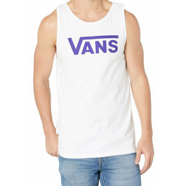 VANS Classic Tank - White / Vans purple, fehér trikó lila vans felirattal