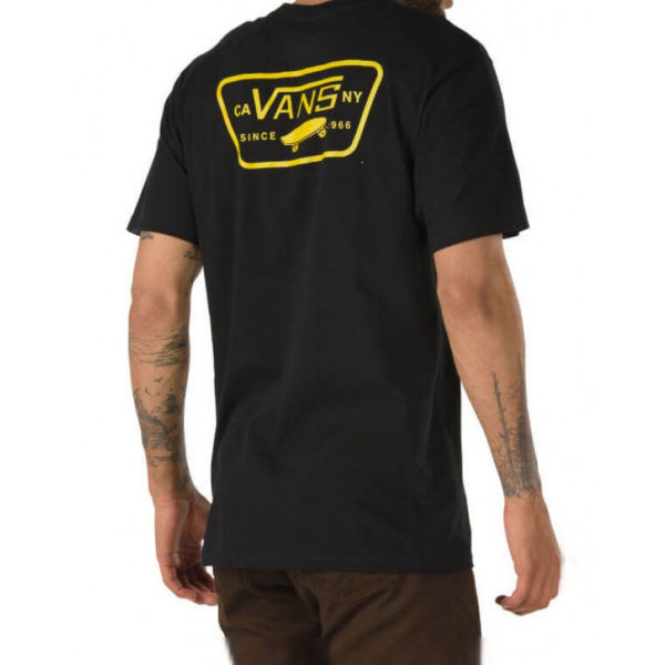 VANS Full Patch Back Black / Sulphur póló