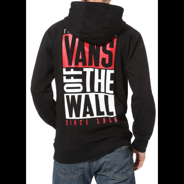 VANS New Stax PO -Black, fekete Vans belebújós pulóver