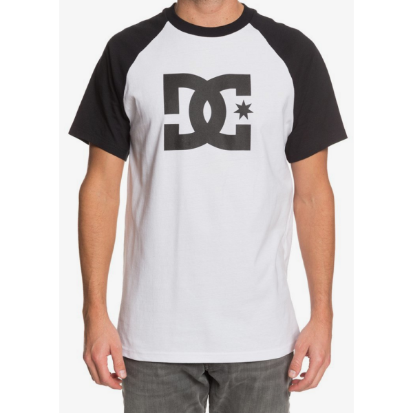 DC Star Raglan  #  Snow white / Black póló