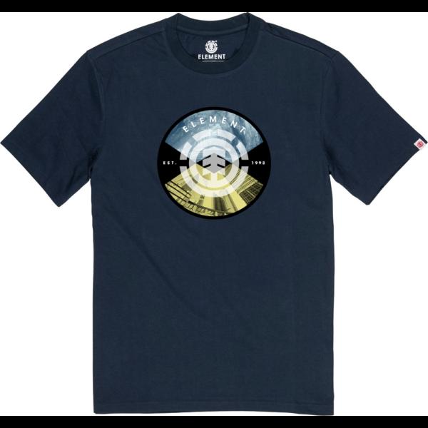 sötétkék element póló nagy színes element logóval