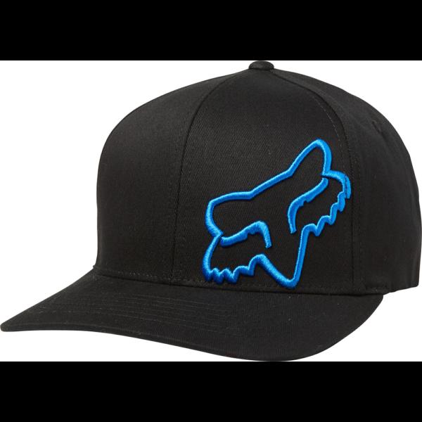 fekete Fox flexfit baseball sapka nagy kék fox logóval