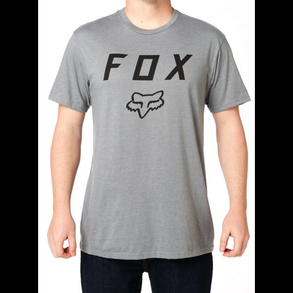 szürke FOX Legacy Moth póló fekete nagy fox logóval