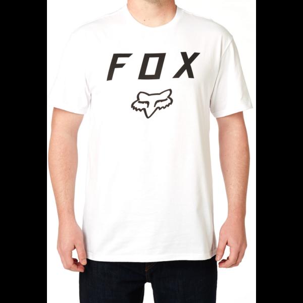 fehér FOX Legacy Moth póló fekete nagy fox logóval