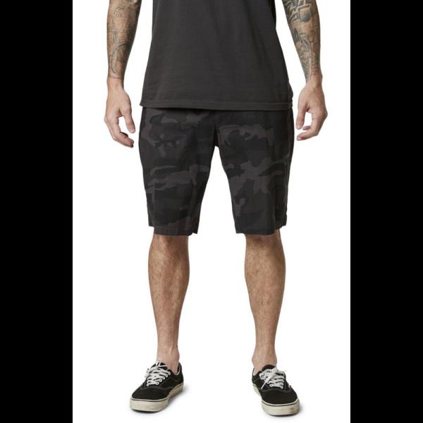 Fox slambozo cargo short fekete szürke terepmintás oldalzsebes rövidnadrág