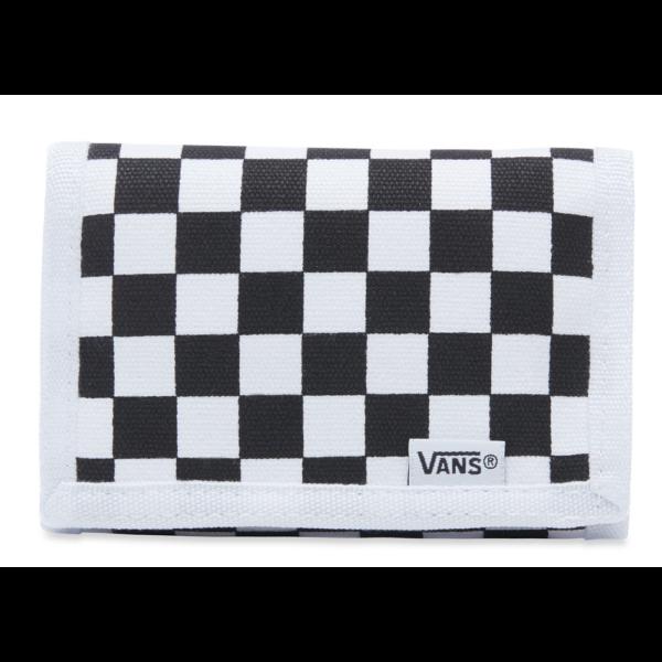 fehér fekete kockás vans vászon pénztárca