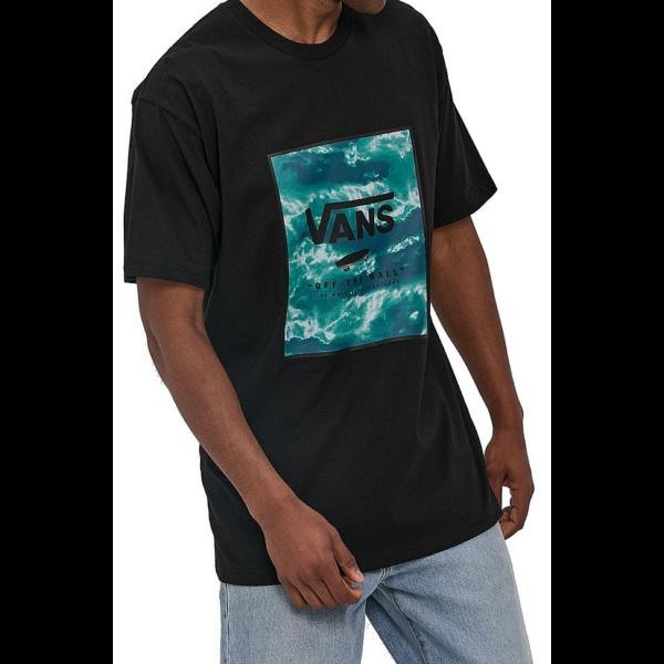 VANS Classic Print Box- Black / Blue Coral póló