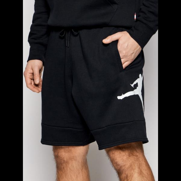 JORDAN Jumpman Air Fleece Short - Black / Black / white rövidnadrág