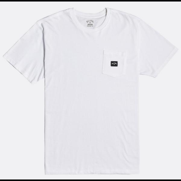 BILLABONG Stacked- White zsebes póló kis Billabong logóval.
