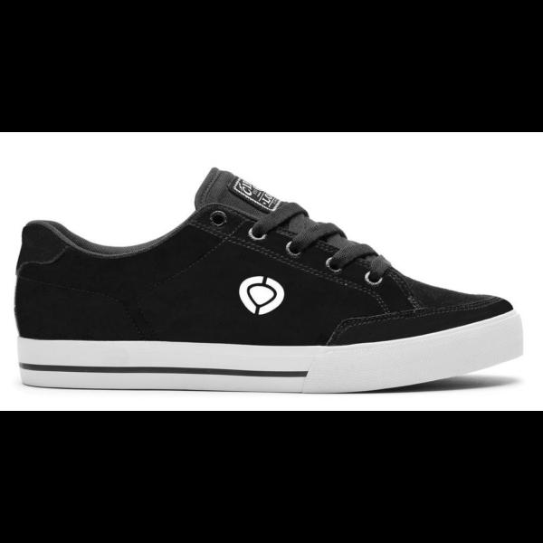 CIRCA AL50 Slim Black / White Synthetic Nubuck / Canvas gördeszkás cipő