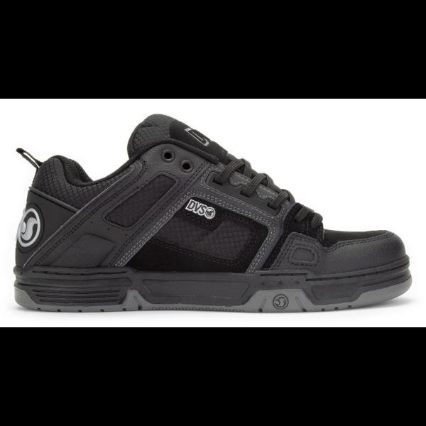 DVS Comanche Black Reflective Charcoal Nubuck gördeszkás cipő