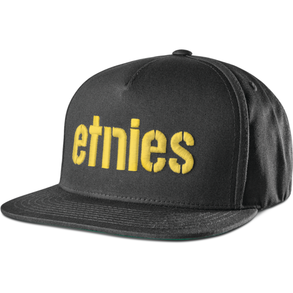 ETNIES Corp Snapback  #  Black / Yellow