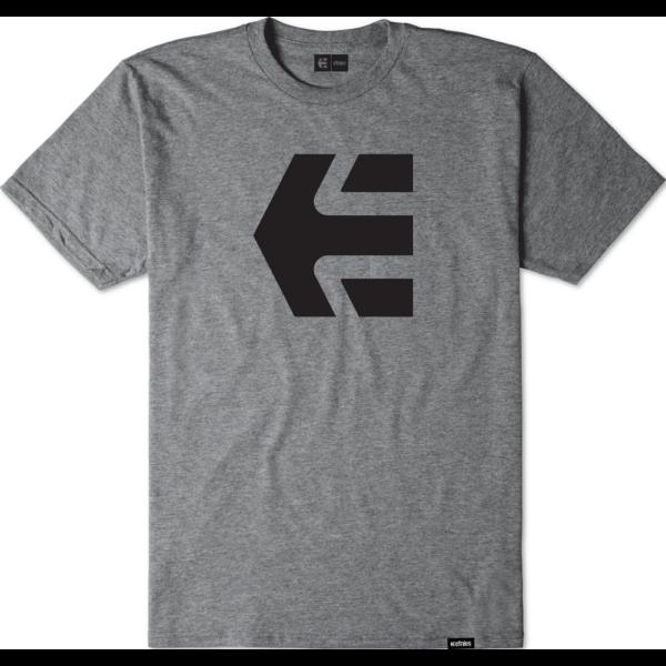 ETNIES Icon- Grey heather póló nyomott nagy Etnies logóval