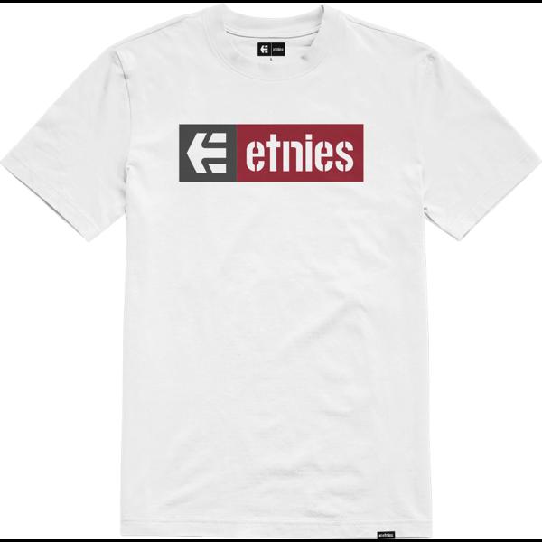 ETNIES New BoxWhite / Red póló