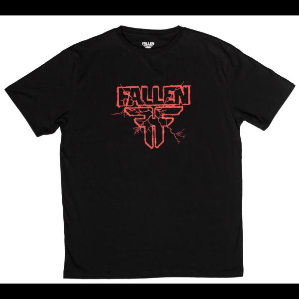FALLEN Electric- Black / Red póló