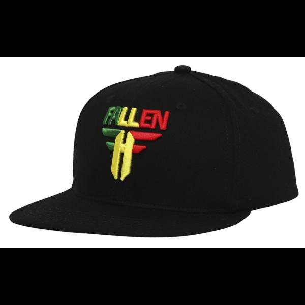 FALLEN Insignia FlatBlack / Rasta baseball sapka
