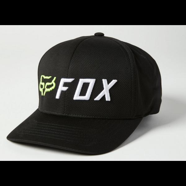 FOX Apex Flexfit Black / Yellow baseball sapka