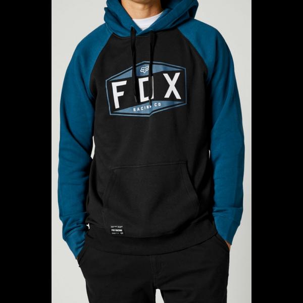FOX Emblem Raglan PO Dark indigo kapucnis pulóver