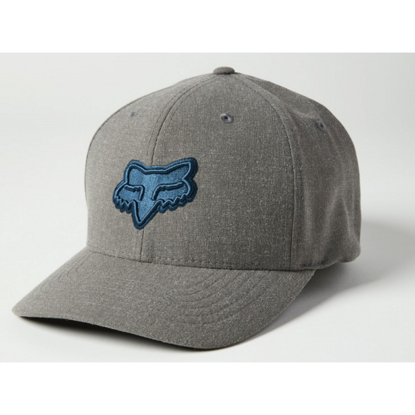 FOX Transposition Flexfit  Grey / Blue baseball sapka