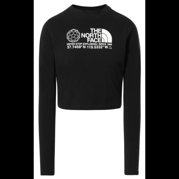 THE NORTH FACE Coordinates LS - TNF Black vékony hosszú ujjú női póló