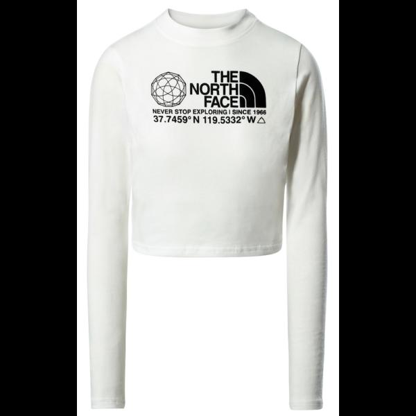 THE NORTH FACE Coordinates LS - TNF White női hosszú ujjú póló