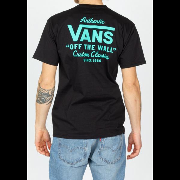 tán nagy vans felíratokkal VANS Holder ST Classic fekete póló elől kicsi há