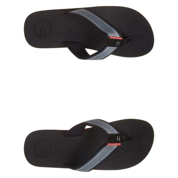 Billabong  Off Road  #  Black Flip-flop férfi vászon pántú papucs gumi talppal