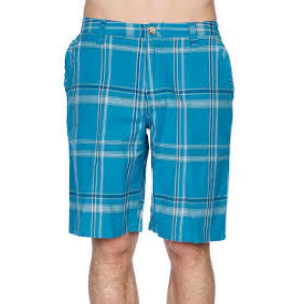 BURTON Base Camp Short, türkiz kockás rövid nadrág