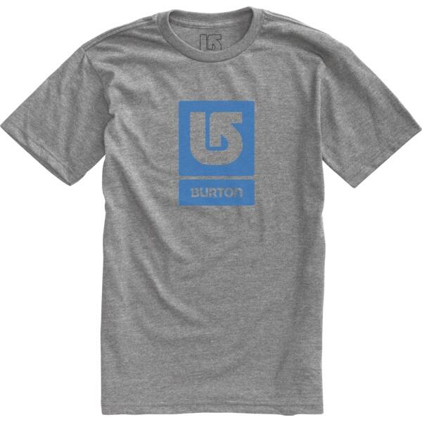 melir szürke rövid ujjú póló ,világos kék nyomott Burton logóval