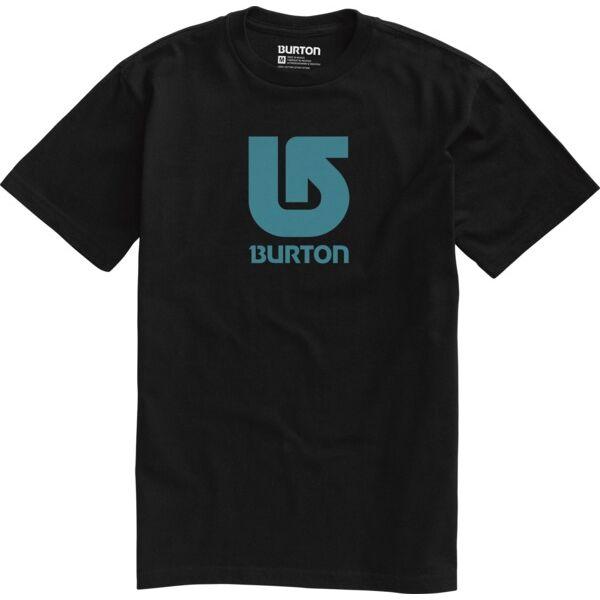 fekete rövid ujjú póló ,kék nyomott Burton logóval