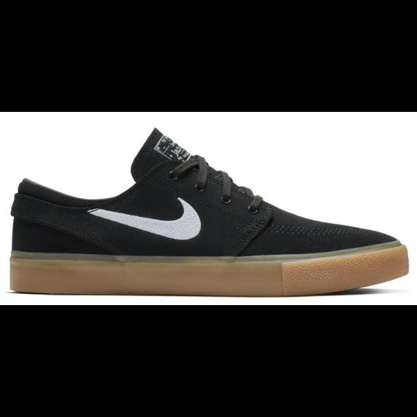 NIKE SB Zoom Stefan Janoski RMBlack / White - Black - gum - Light brown gördeszkás cipő