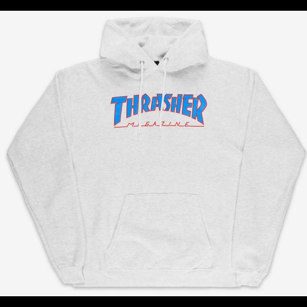 THRASHER  Outlined Po - Ash Grey kapucnis pulóver