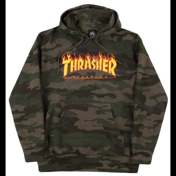 Camo Thrasher kapucnis pulóver