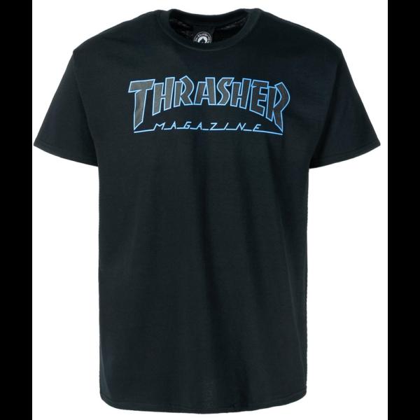 THRASHER OutlinedBlack / Black póló