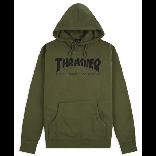THRASHER  Skate Mag Po - Army kapucnis pulóver