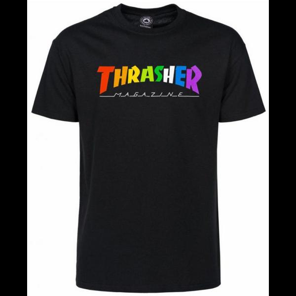 THRASHER  Rainbow Mag - Black póló