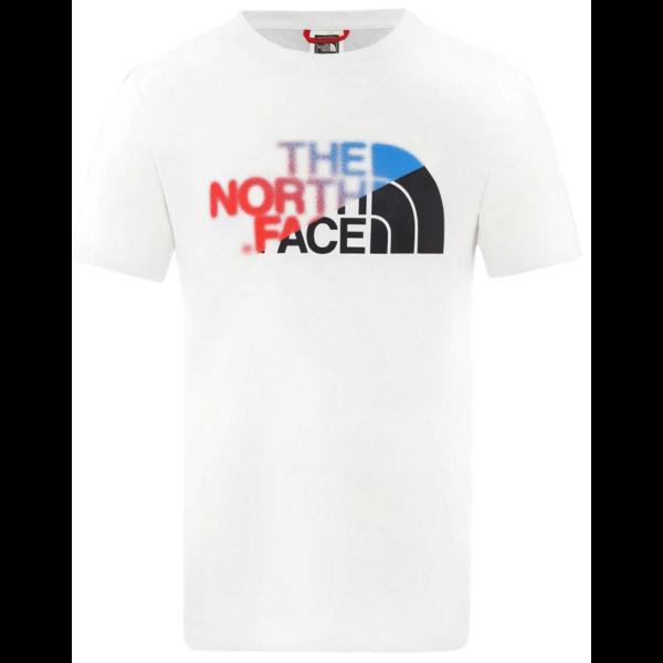 THE NORTH FACE BD GLS-EU - TNF White / Clear Lake Blue póló