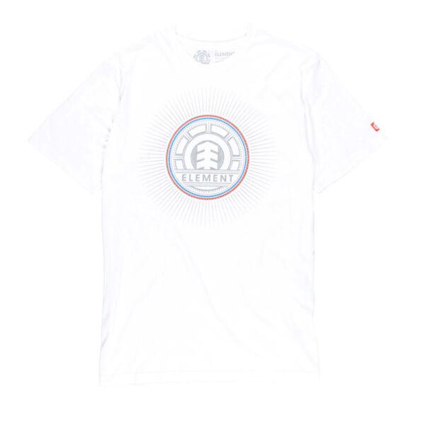 fehér  rövid ujjú póló,színes element logóval