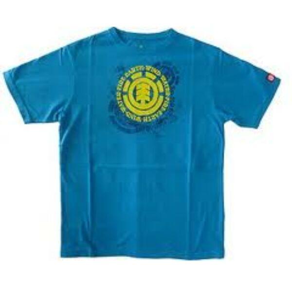 türkiz rövid ujjú póló,sárga Element logóval