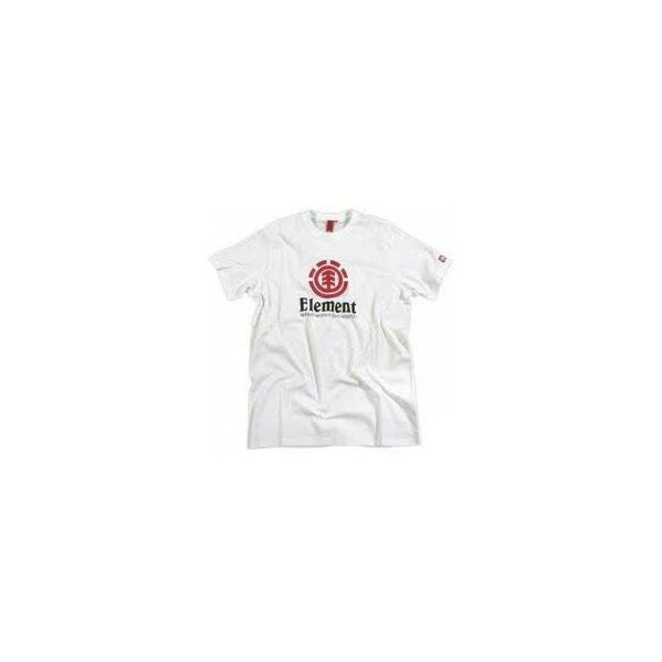 ELEMENT Vertical fehér rövid ujjú póló,piros Element logóval és fekete Element felírattal